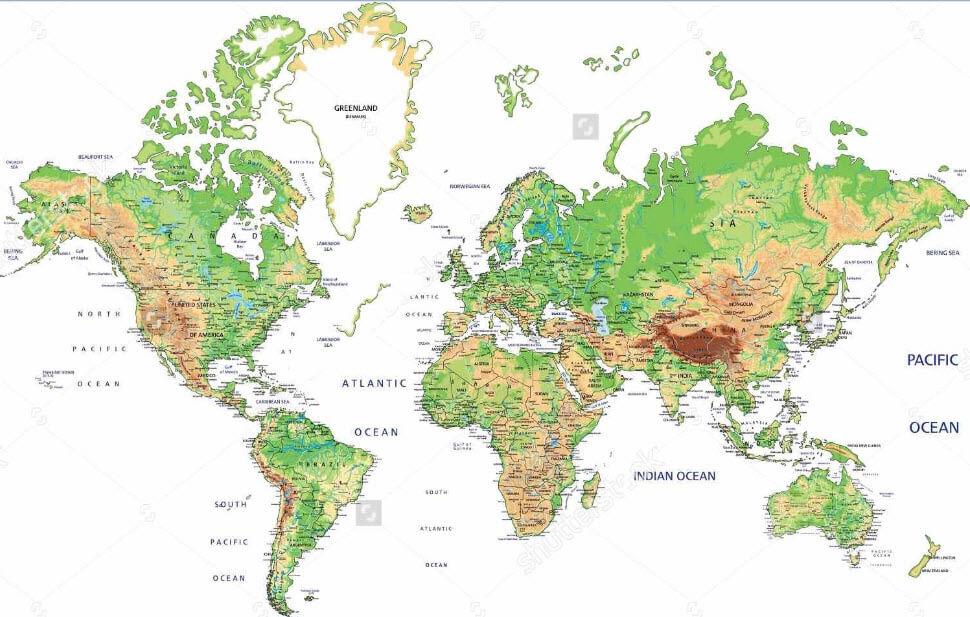Bản đồ treo tường gồm những loại nào?