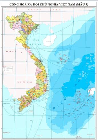 In bản đồ Việt Nam khổ lớn ở đâu có nội dung chính xác nhất?
