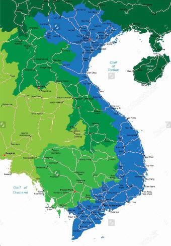 In bản đồ Việt Nam lớn