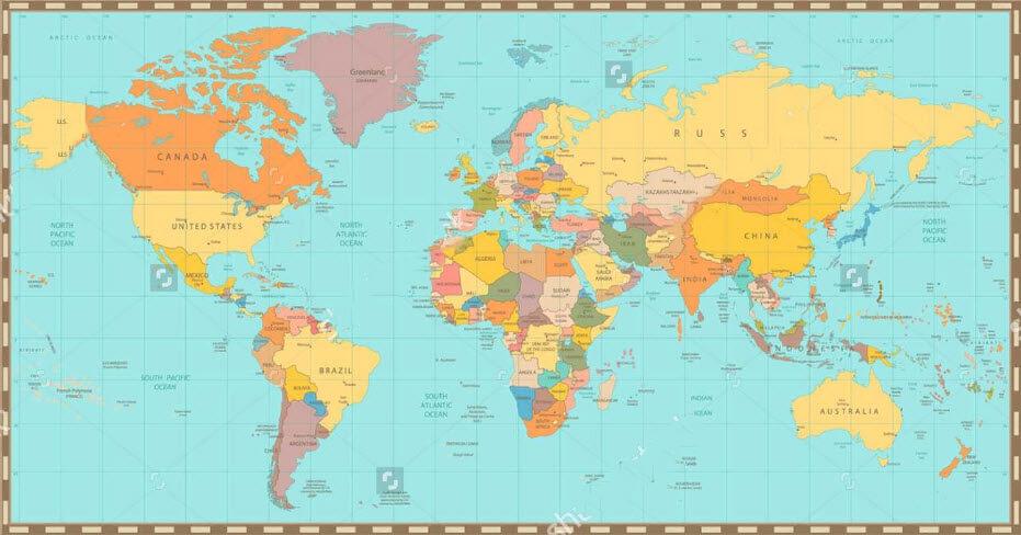Nơi in bản đồ thế giới treo tường vừa ý cho bạn
