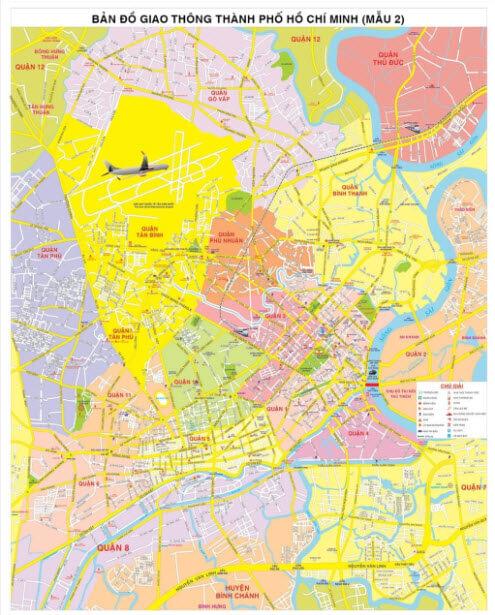 bán bản đồ giao thông treo tường chất liệu hiflex