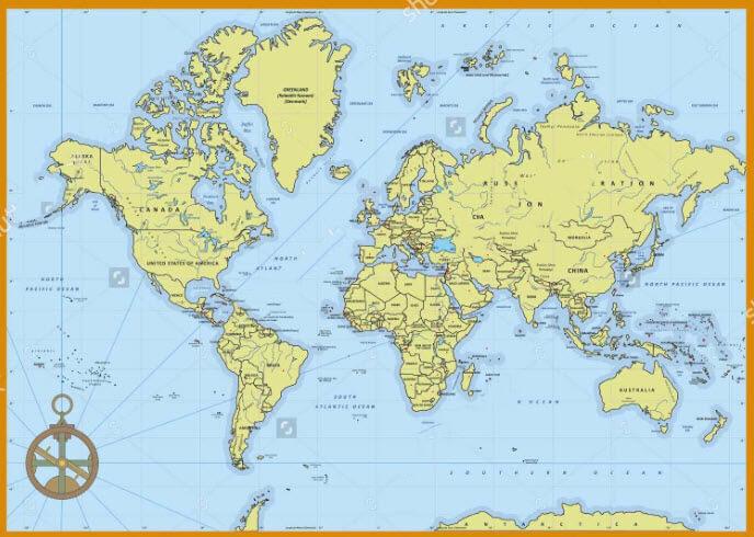 mua  bản đồ thế giới treo tường chất lượng nhất tại NVSoft