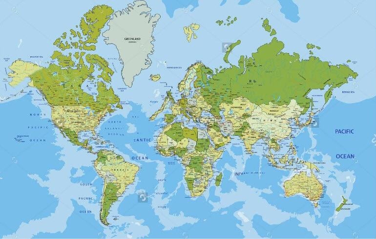 Nơi bán bản đồ thế giới treo tường giá rẻ nhất?