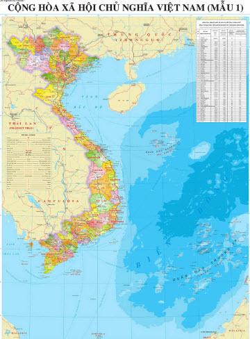 Nơi bán bản đồ Việt Nam treo tường đẹp