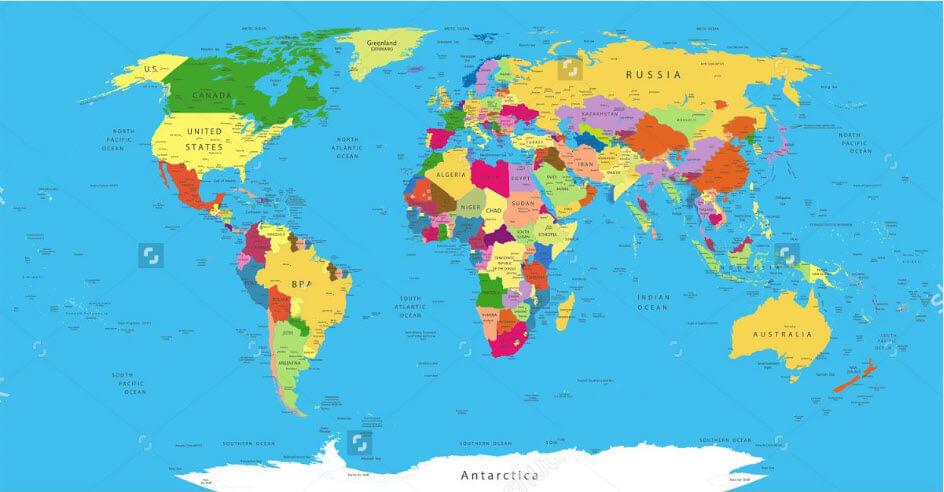 Bản đồ thế giới cỡ lớn – mô hình thu nhỏ của Trái Đất