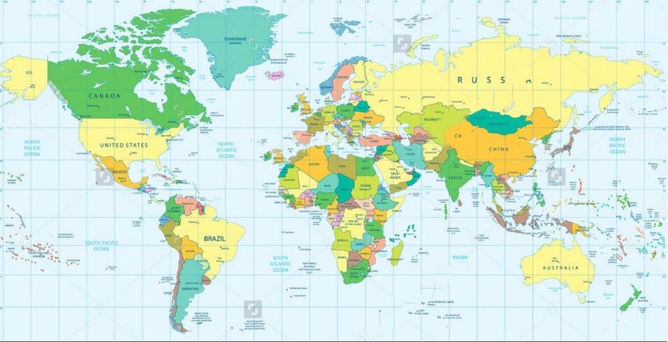 NVSoft – nơi mua bản đồ thế giới khổ lớn đảm bảo nhất