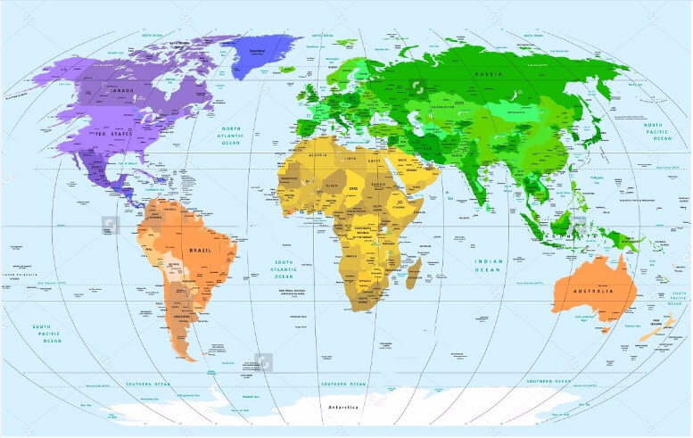 Bán bản đồ thế giới treo tường hàng đầu Việt Nam