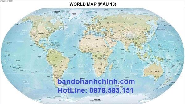 Bản đồ thế giới khổ lớn mẫu 10
