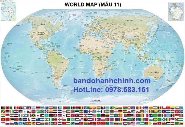 bản đồ thế giới khổ lớn mẫu 11