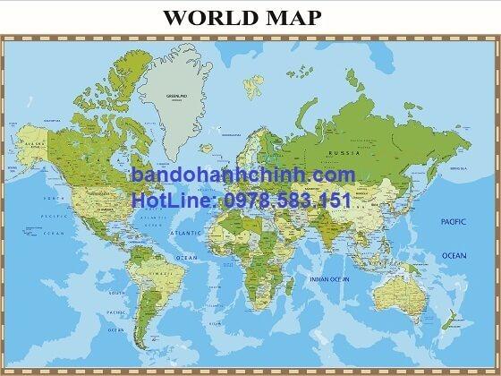 Bản đồ thế giới khổ lớn mẫu 23