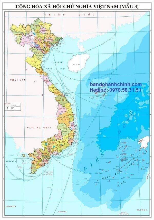 Bản đồ Việt Nam khổ lớn mẫu 3
