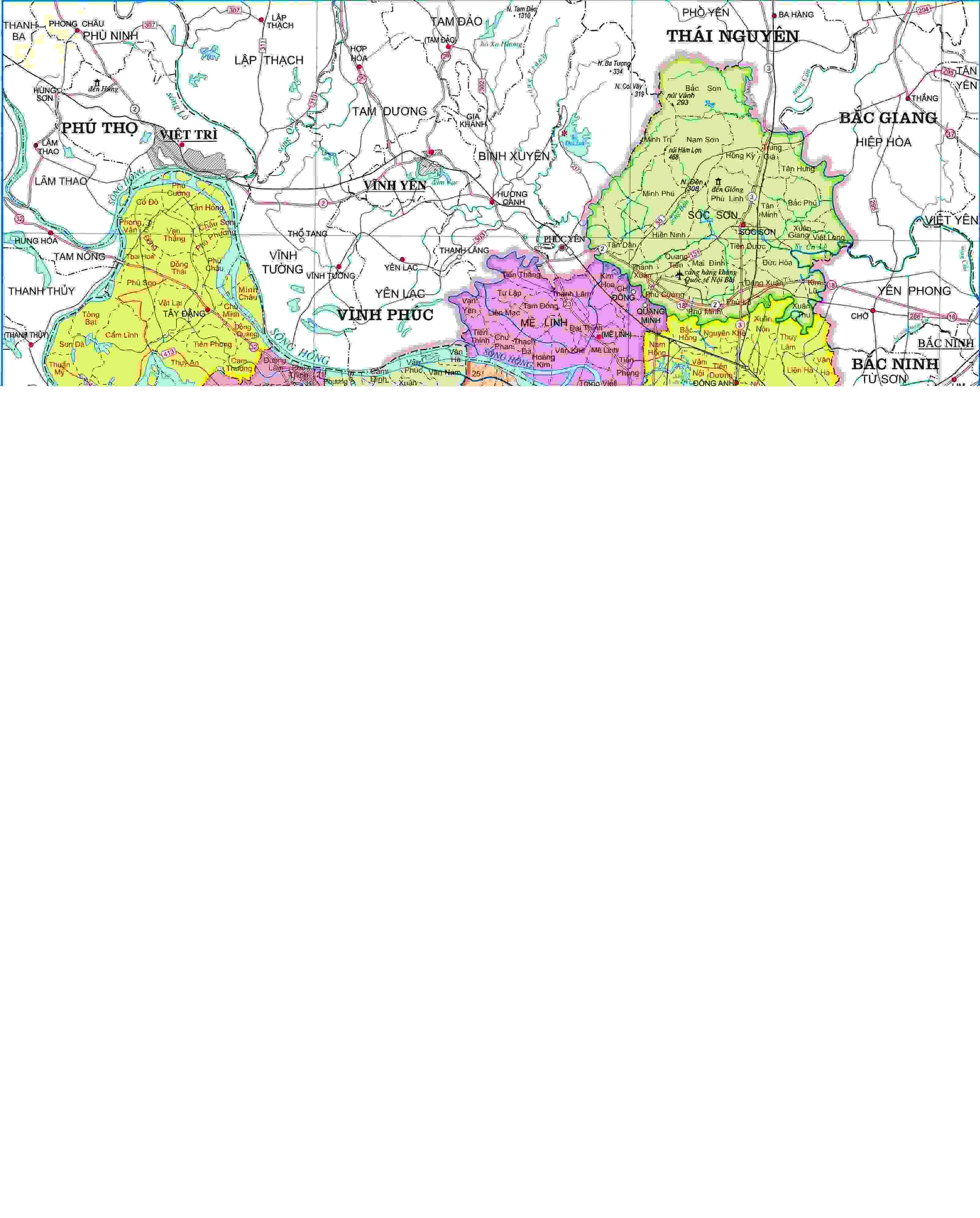 Bản đồ hành chính Tp Hải Phòng khổ lớn