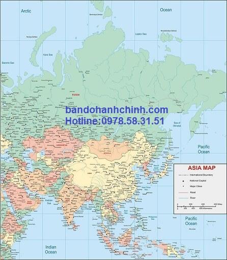 Ban do Chau A