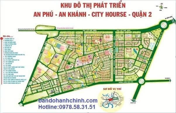 Bản đồ quy hoạch An Phú, An Khánh city house