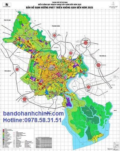 ban do dinh huong phat trien khong gian tphcm den 2025