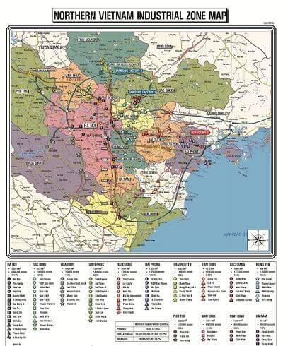 Map Design bán bản đồ khu công nghiệp miền Bắc tại TPHCM