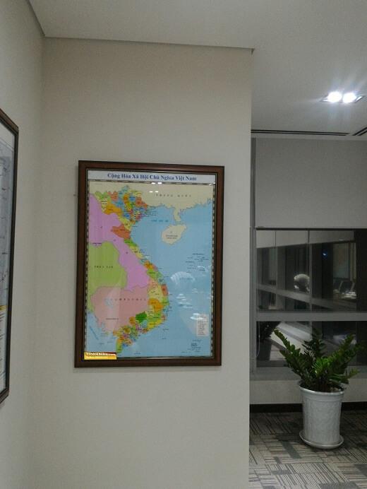 Bản đồ Việt Nam đóng khung 05