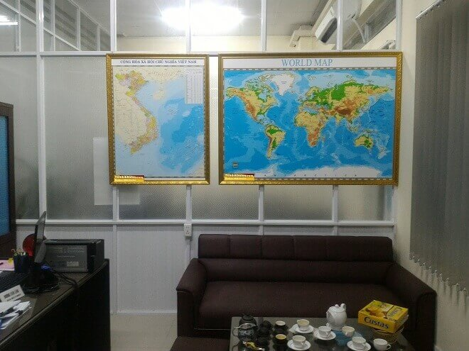 bán bản đồ thế giới tại Sài Gòn