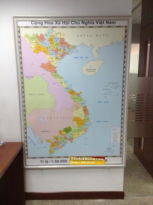 Bản Đồ Việt Nam Đóng Khung 07
