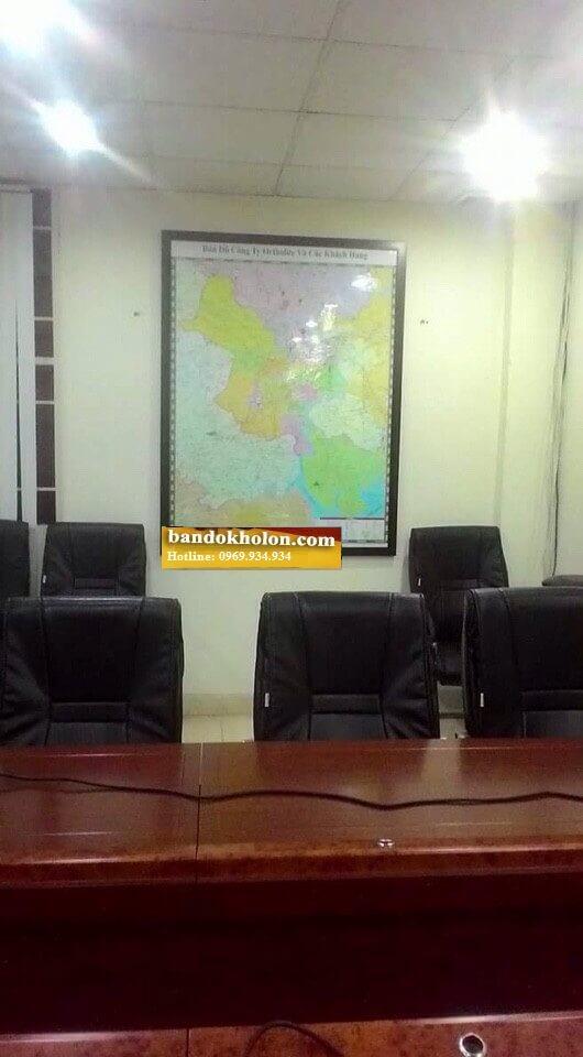 Bán bản đồ hành chính TPHCM dán tường sang trọng