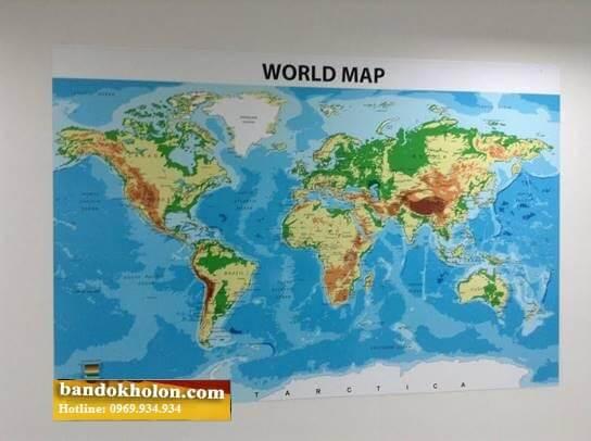 bản đồ thế giới dán tường