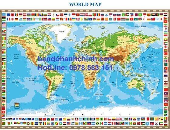 bán bản đồ cảng biển thế giới