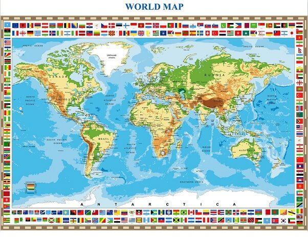 Bản đồ cảng biển thế giới có giá trị tra cứu cao