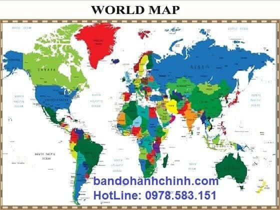 bán bản đồ thế giới mẫu 39 đóng khung