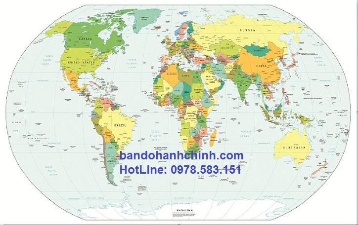 Map Design chuyên bán bản đồ thế giới mẫu 40