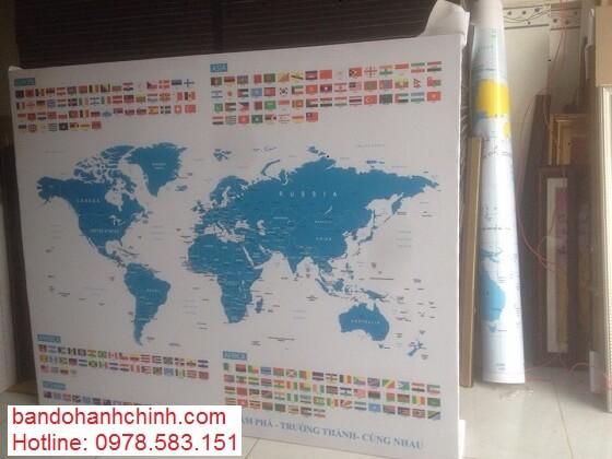 in bản đồ thế giới tại thành phố HCM