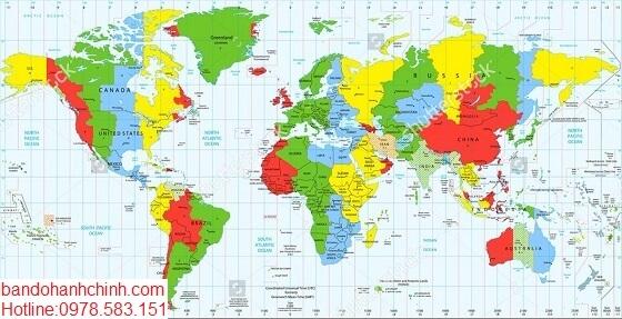 Mua bản đồ Thế Giới tại tphcm