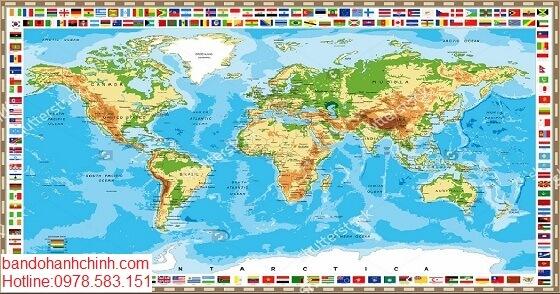 in bản đồ Thế Giới tại tphcm
