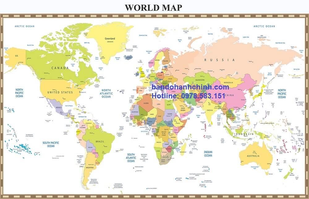 Bán bản đồ thế giới cỡ lớn tại hà nội