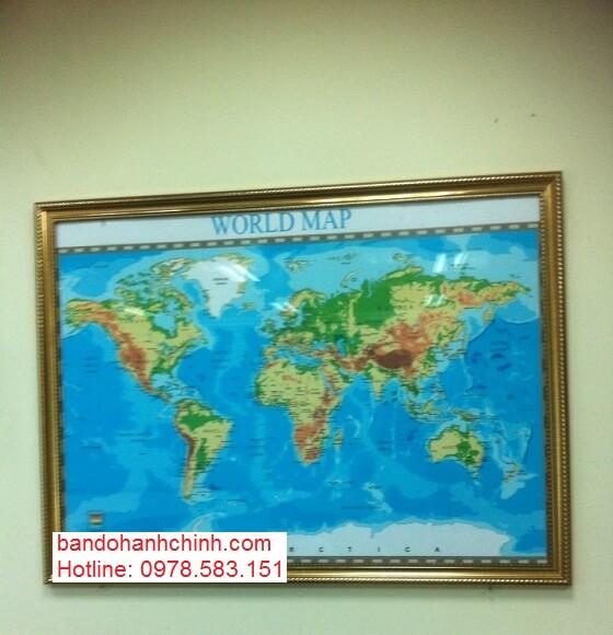 Bán bản đồ Thế Giới size lớn