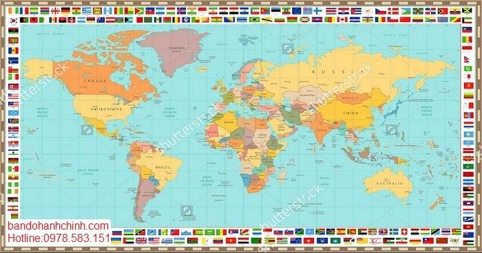 Bán bản đồ Thế Giới tại đà nẵng