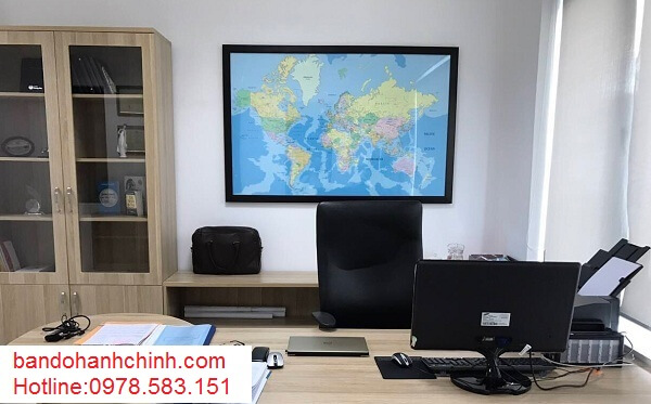 Mua bản đồ Thế Giới kích thước lớn ở đâu