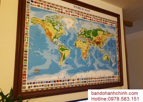 in bản đồ thế giới tại thành phố Hồ Chí Minh