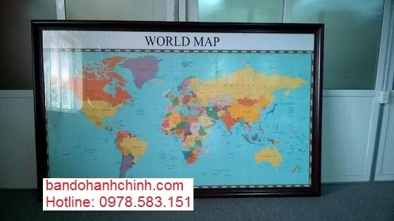 Mua bản đồ thế giới cỡ lớn ở đâu tại hà nội