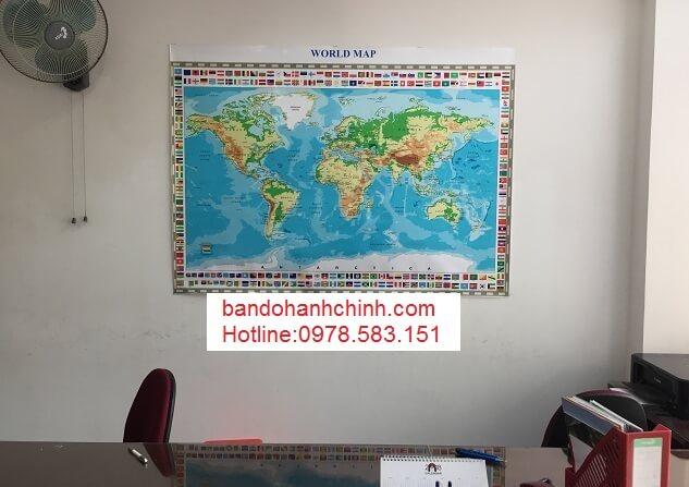 Bán bản đồ Thế Giới giá rẻ