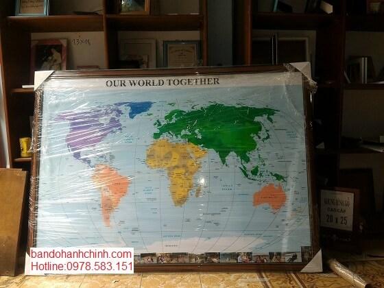 Bán bản đồ Thế Giới tại tphcm