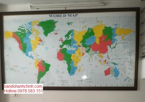 Bán bản đồ Thế Giới khổ lớn khổ lớn