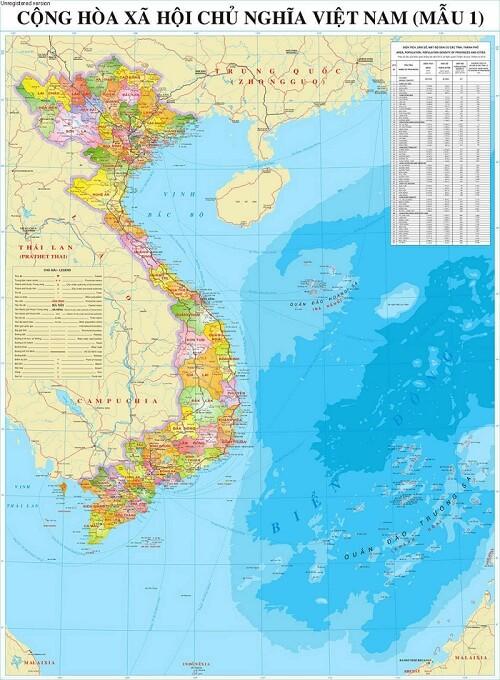 Mua bản đồ Việt Nam Tiếng Trung tại tphcm