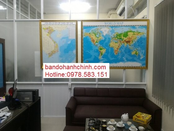 mua bản đồ Việt Nam Tiếng Trung kích thước lớn ở đâu
