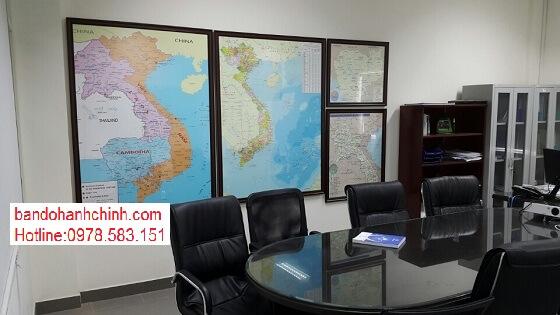 Bán bản đồ Việt Nam Tiếng Trung size lớn