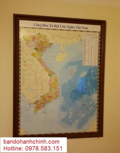 Bán bản đồ Việt Nam Tiếng Anh khổ lớn