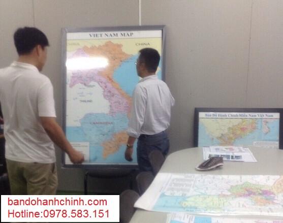 In bản đồ Việt Nam Tiếng Anh kích thước lớn ở đâu