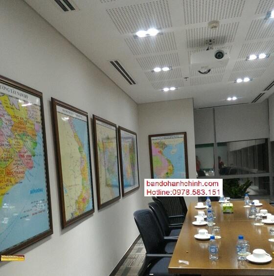 in bản đồ Việt Nam Tiếng Anh tại hà nội