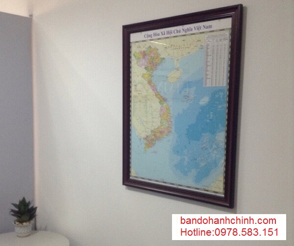 in bản đồ Việt Nam Tiếng Trung tại thành phố hcm