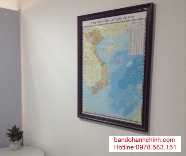 in bản đồ Việt Nam Tiếng Trung tại hà nội