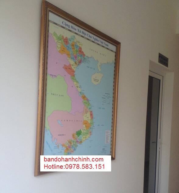in bản đồ Việt Nam Tiếng Anh tại tphcm